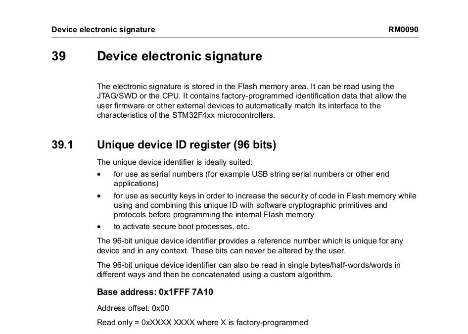 Device electronic signature